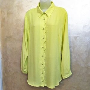 Bright Blouse by NY Collection Like New 1X